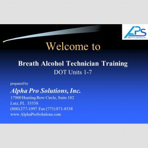 Breath Alcohol Technician Training