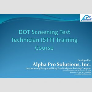 DOT Screening Test Technician Training