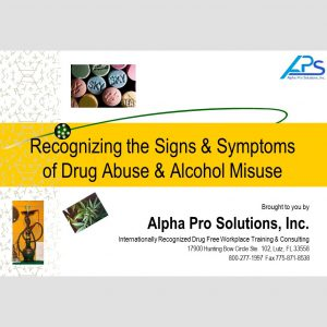 APS Supervisor Signs & Symptoms Training