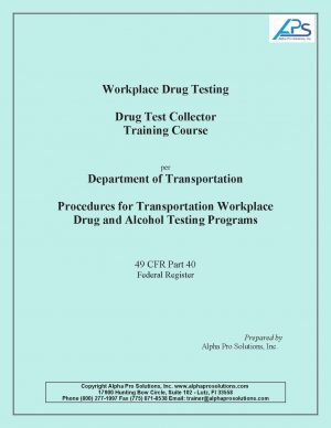 Workplace Drug Test Collector Training Course